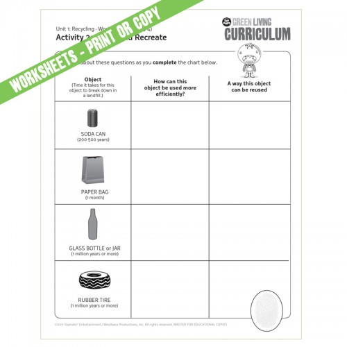 Worksheet Recycling Worksheets Pdf curriculum includes video lesson plans digital download recycling download